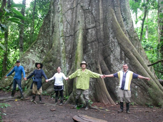 group of people in jungle expedition