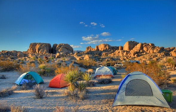 Jumbo Rocks Campground, Joshua Tree National Park, California