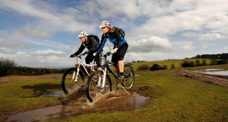 Biking at Quantock, Somerset
