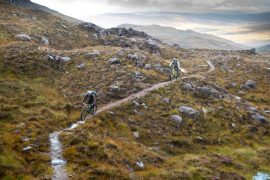 Biking tour at Torridon, Scotland