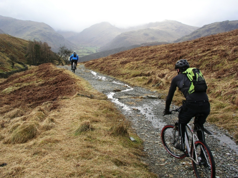 Biking tours at Nan Bield Pass, Lake District